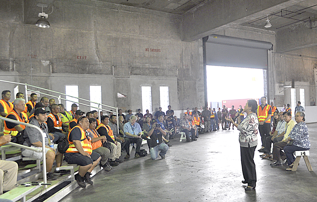On March 13, 2019, Governor Lou Leon Guerrero and Lt. Governor Joshua Tenorio toured the Port Authority of Guam and was able to visit all Port assets located at Cabras Island.