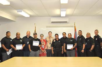 Appreciation and recognition was presented to our Port Police Division